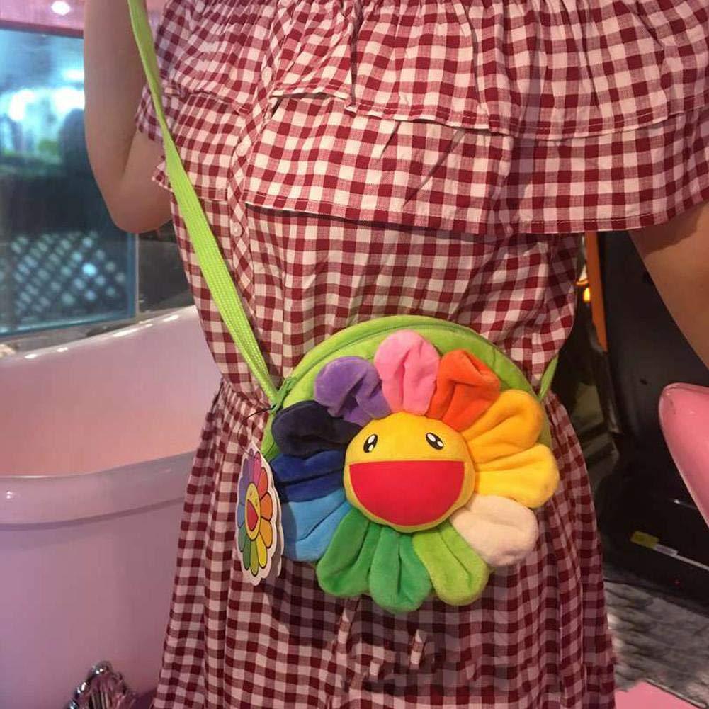 biteatey Brieftasche wohlf/ühlen Sonnenblumen Muster brosche h/ängen//geldb/örse//kartentasche//umh/ängetasche pl/üsch langlebig
