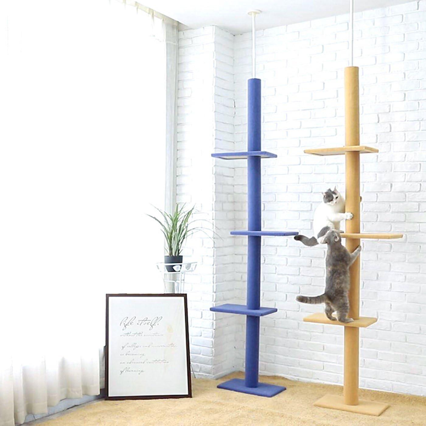 S-Lifeeling Cat Climbing Toys Tower Structures Cat Climber Tree Post Shelves Multilayer Platform Super Long Large Cat Climbing Tree Cat Tree Furniture Scratch (Purple) : Pet Supplies