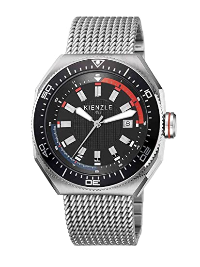 Kienzle KIENZLE K8021533052 - Reloj analógico de cuarzo para hombre, correa de acero inoxidable color
