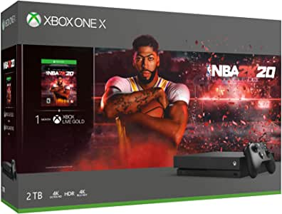 Amazon.com: Microsoft Xbox One X 2TB SSHD NBA 2K20 Bundle