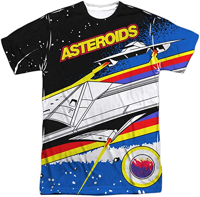 Asteroids Sublimation Shirt for Men, officially licensed