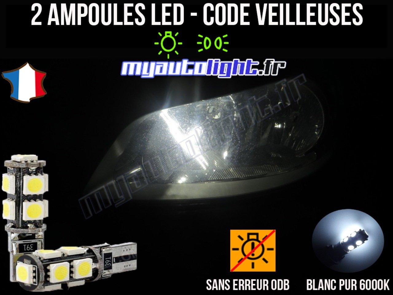 Pack veilleuses à led blanc xenon pour RENAULT CLIO 3 MyAutoLight
