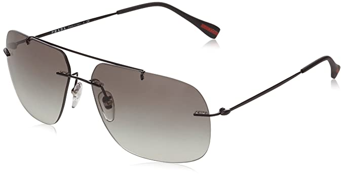 a9739e3e08 Prada Sport Men s PS 55PS Red Feather Rectangular Sunglasses