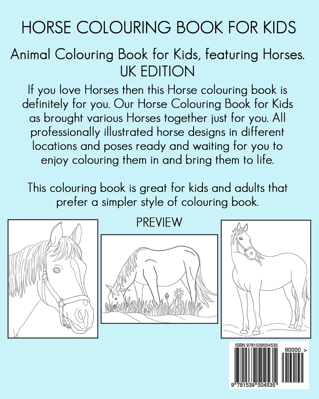 horse colouring book for kids animal colouring book for kids