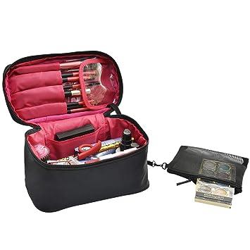 color negro Neceser de nailon para hombre bolsa de maquillaje neceser de maquillaje organizador de maquillaje organizador de viaje bolsa de viaje