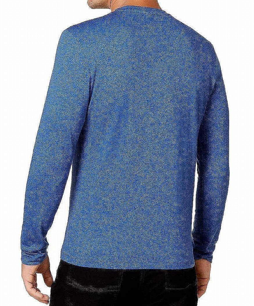 Alfani Heather Mens Large Stretch Knit Henley Shirt