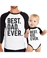 365 Printing Dad and Baby Matching Baseball Tees Cute Gift Ideas For Baby Shower