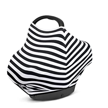 Nursing Breastfeeding Cover Shopping Cart Stretchy Multi Use Car Seat Canopy