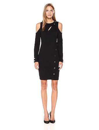Guess Womens Long Sleeve Lila Snap Dress At Amazon Womens Clothing