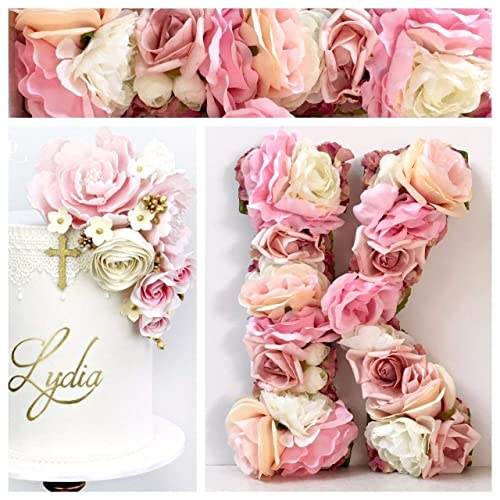 Floral Painted Wooden Monogram