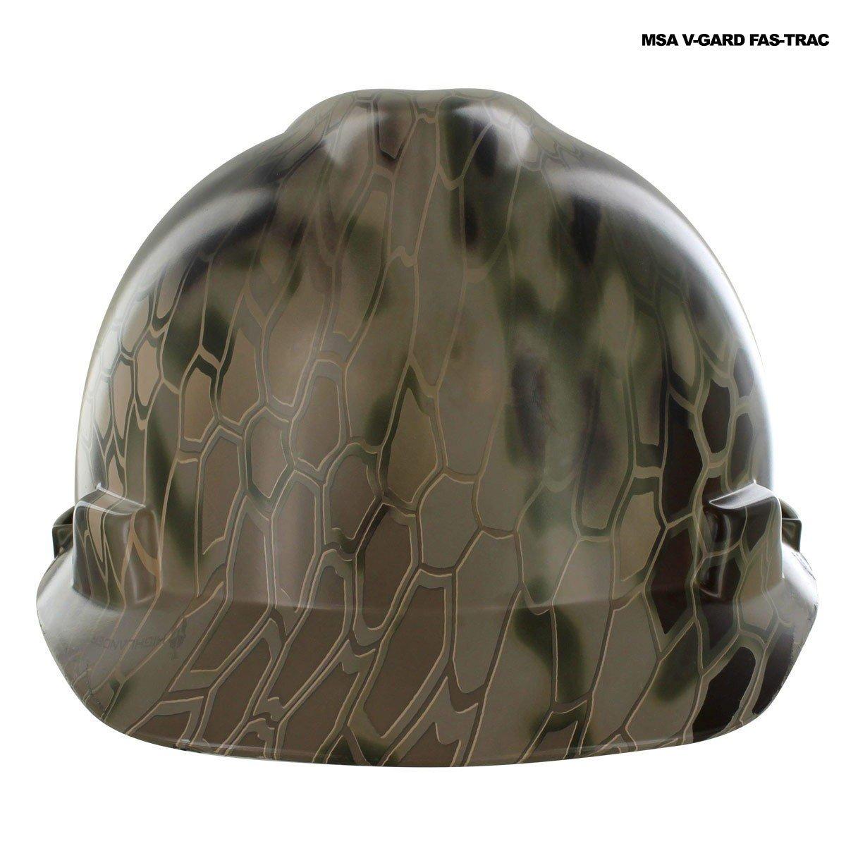 Rugged Blue Hydrographic Kryptek Highlander Hard Hat in MSA V-Gard Fas-Trac Cap - OSSG-CSGSCHH1000036038-VGardFasTrac