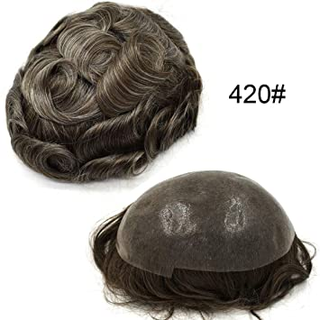 Ultra Thin Pu Skin Invisible V-Loop Men Toupee