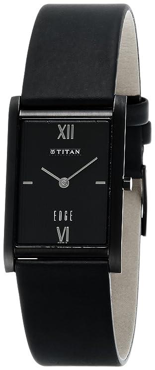 Amazon.com: Titan Edge Analog Black Dial Mens Watch - NE1043NL01 [Watch]: Watches
