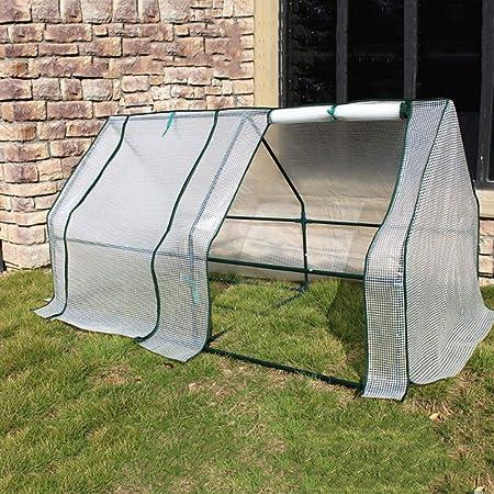 XY&CF-Flower house Plante el Tejido de Malla de Efecto Invernadero PE Todo el Esqueleto de Acero Mini Invernadero (180 * 95 * 95 cm): Amazon.es: Hogar