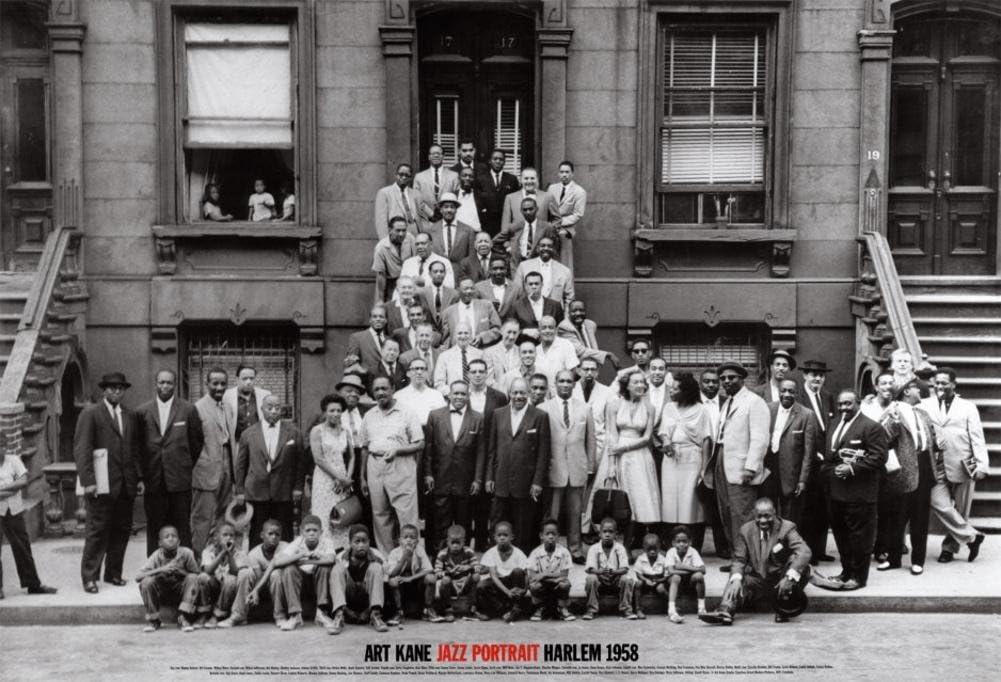 (24x35) Art Kane A Great Day in Harlem Jazz Portrait 1958 Photo Poster Print 71nbwbrOcqL