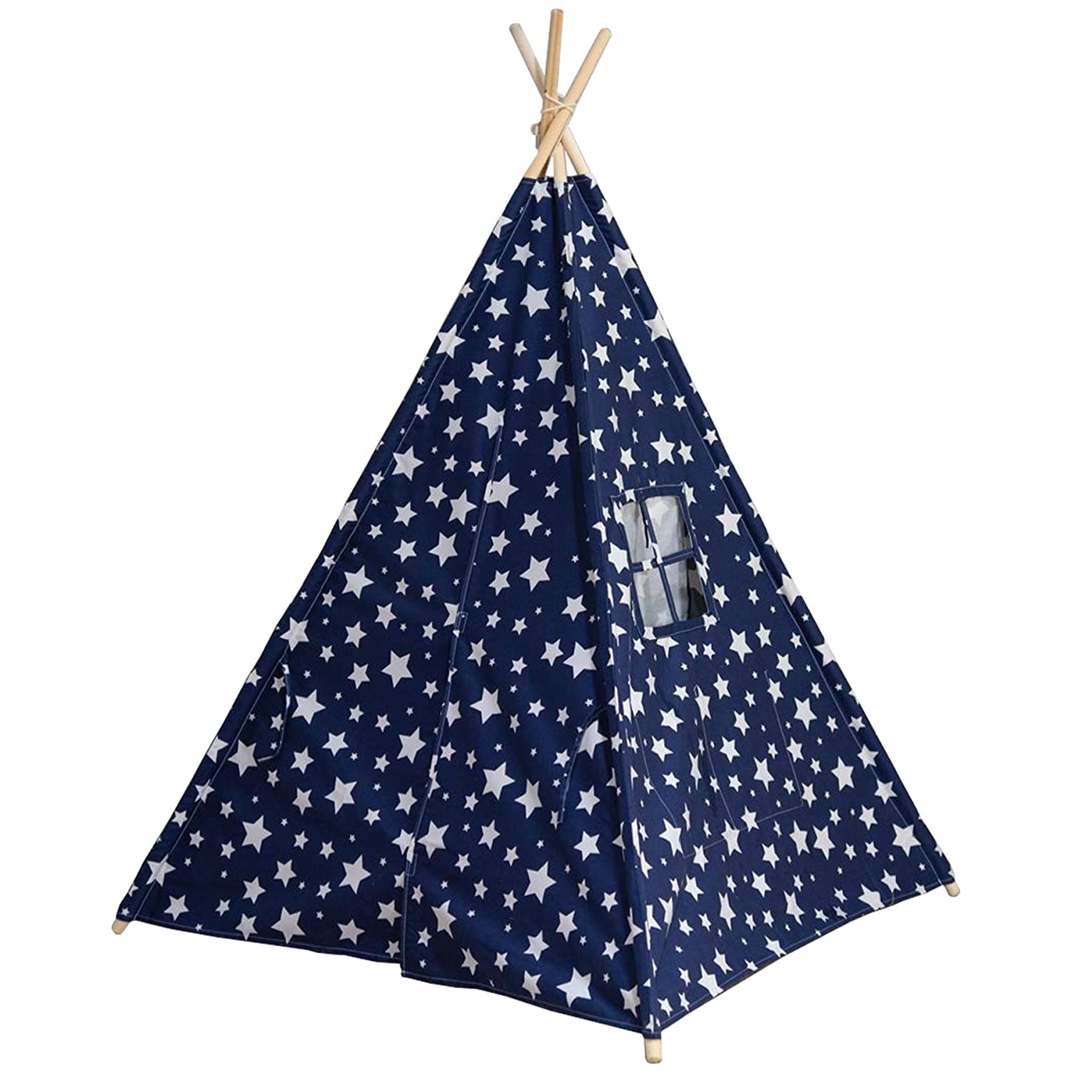 Blue 145cm Tall Baby Joy Portable Kids Children Indoor Outdoor Teepee Tipi Wigwam Play Tent Playhouse with carry case
