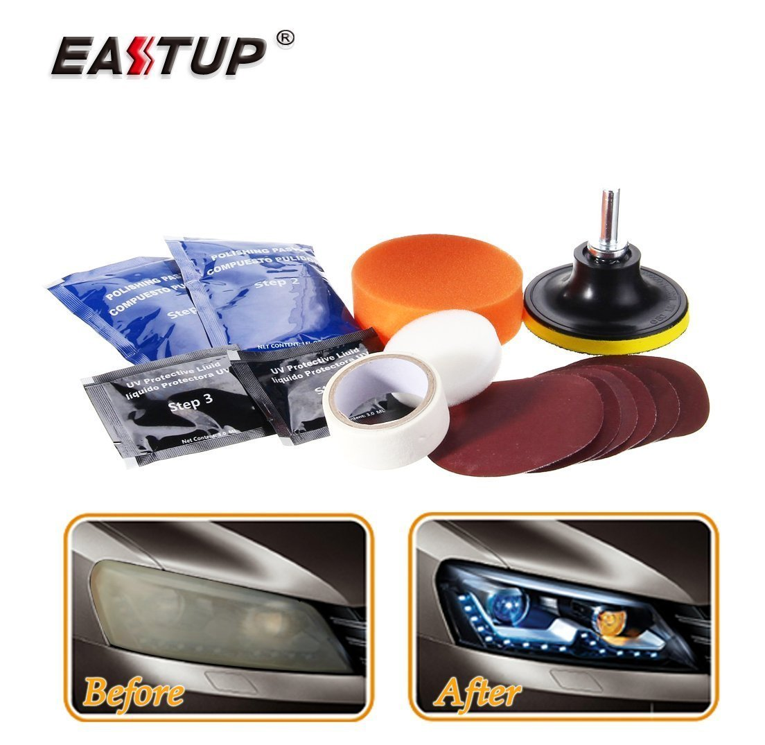 Eastup Headlight Lens Restoration Kit Taillight Restore tools Eastup Insustrial