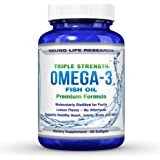 FISH OIL - Premium Pharmaceutical Grade OMEGA 3 Triple Strength ? 100% MONEY BACK GUARANTEE ? Formulated For Superior Results!