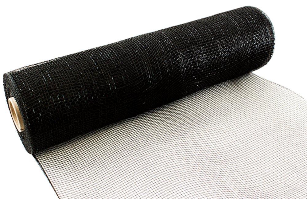 Eleganza N ° 20Deco en Maille Filet, Noir, 25cm X 9.1m Oaktree 639430