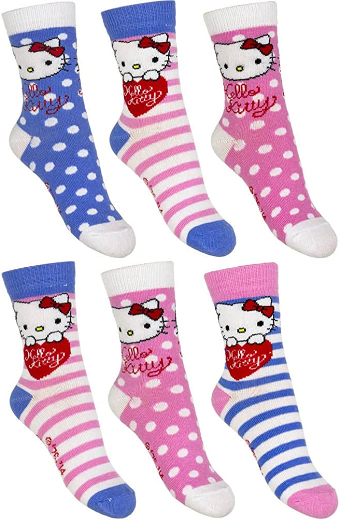 23-34 Hello Kitty Star Wars Mädchen Jungen Disney Kinder Socken 8 er Pack Gr