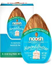 NOOSH Keto Almond Butter Packets (Birthday Cake, 15 Count) - All Natural, Vegan, Gluten Free, Soy Free - Ketogenic and Low Carb Friendly
