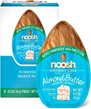 NOOSH Keto Birthday Cake Almond Butter Packets 15ct (0.5oz) - Vegan, Gluten Free, Kosher, Non GMO, No Soy, No Dairy, No Peanu