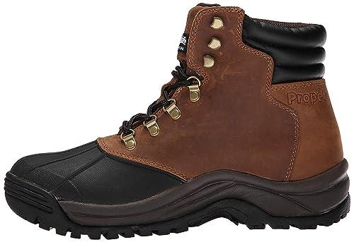 Propét Hombres Blizzard Mid Lace Puntera Piel Botas De Seguridad, Brown/Black, Talla 14: Amazon.es: Zapatos y complementos