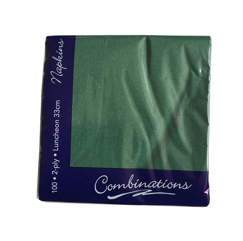 Tezraftaar/® 500 33cm X 33cm 2-Ply Napkins Soft Paper Napkins Tableware Party Supplies Celebration Black