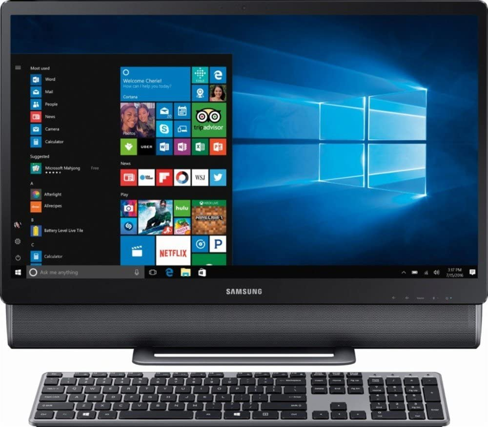 """Samsung 24"""" Full HD Touch-Screen All-in-One Computer 2018 Newest Desktop, Intel Core i5-7400T Up to 3.0GHz, 12GB DDR4, 1TB HDD, WiFi, Bluetooth, Windows 10, Titan Gray"""