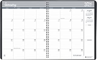 product image for House of Doolittle 2021-2022 Two Year Calendar Planner, Monthly, Black Cover, 8.5 x 11 Inches, January - December (HOD262002-21)