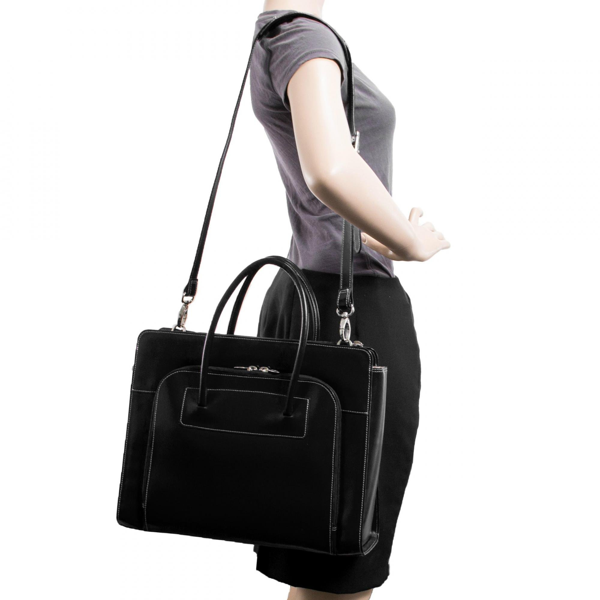 McKleinUSA LAKE FOREST 94335 Black Leather Women's Case w/ Removable Sleeve by McKleinUSA (Image #5)