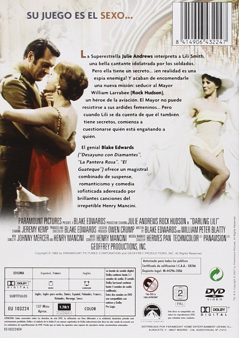 Amazon.com: Darling Lili (Import Movie) (European Format - Zone 2) (2013) Julie Andrews; Rock Hudson; Jeremy Kemp; Lan: Movies & TV
