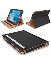 """MOFRED® Black & Tan Apple iPad Executive Leather Case for Apple iPad 9.7"""" (For 2017,2018 & 2019 Versions)- Voted by 'The Daily Telegraph' as #1 iPad Case! (iPad Models A1822, A1823, A1893, A1954)"""