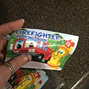 US Toy Assorted Fireman Fire Engine Mini Coloring Books Lot of 12 Everready First Aid UST4110