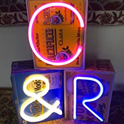 Led Light Up Numbers Neon Lights Neon Signs Night Light Lamp For Wall Decor Christmas Birthday Party Home Decorations Blue Number 0 Amazon Com