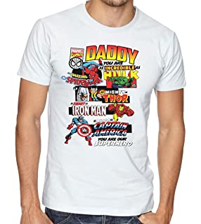 aa1e33c84e Daddy Marvel Comic Book Style Fathers Day T-Shirt Dad Present Gift Superhero  Tee