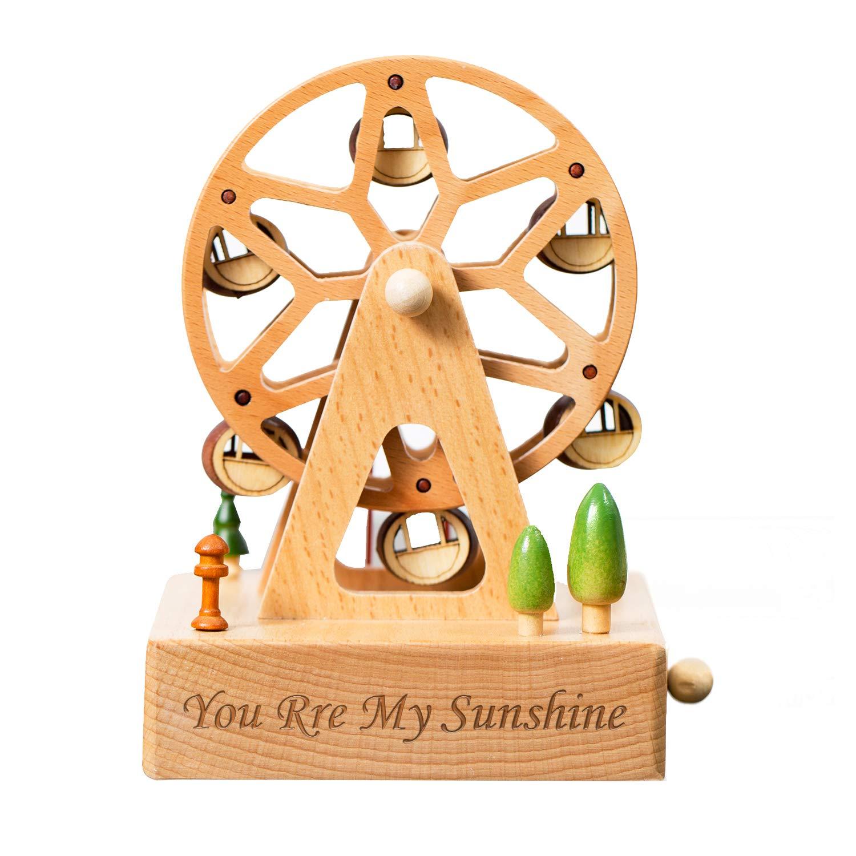 人気 smartyou音楽ボックス、Personalized木製音楽ボックスカスタマイズされたギフトのガールズ Ferris、ボーイズonクリスマス/誕生日/感謝祭 Wheel/卒業日 B07F15QG9Y B07F15QG9Y Ferris Wheel, ファビュラス モダーンズ:ab977e98 --- hohpartnership-com.access.secure-ssl-servers.biz