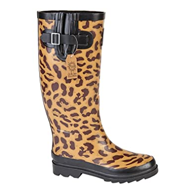 Women Wellington Ladies Snow Boots Wellies Rubber Flat Rain Shoes:  Amazon.co.uk: Shoes & Bags