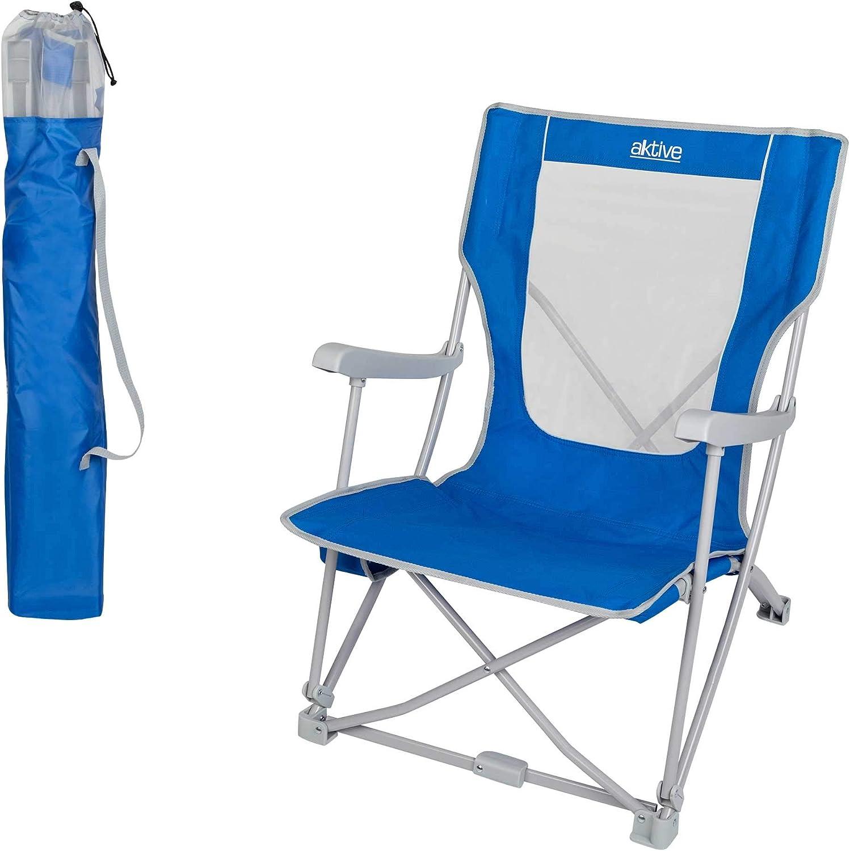 Aktive 52838 - Silla plegable para camping Camping 59x68x78 cm