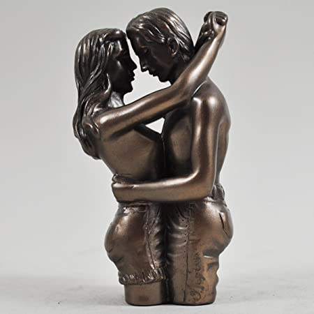 nude Bronze woman sculpture man and