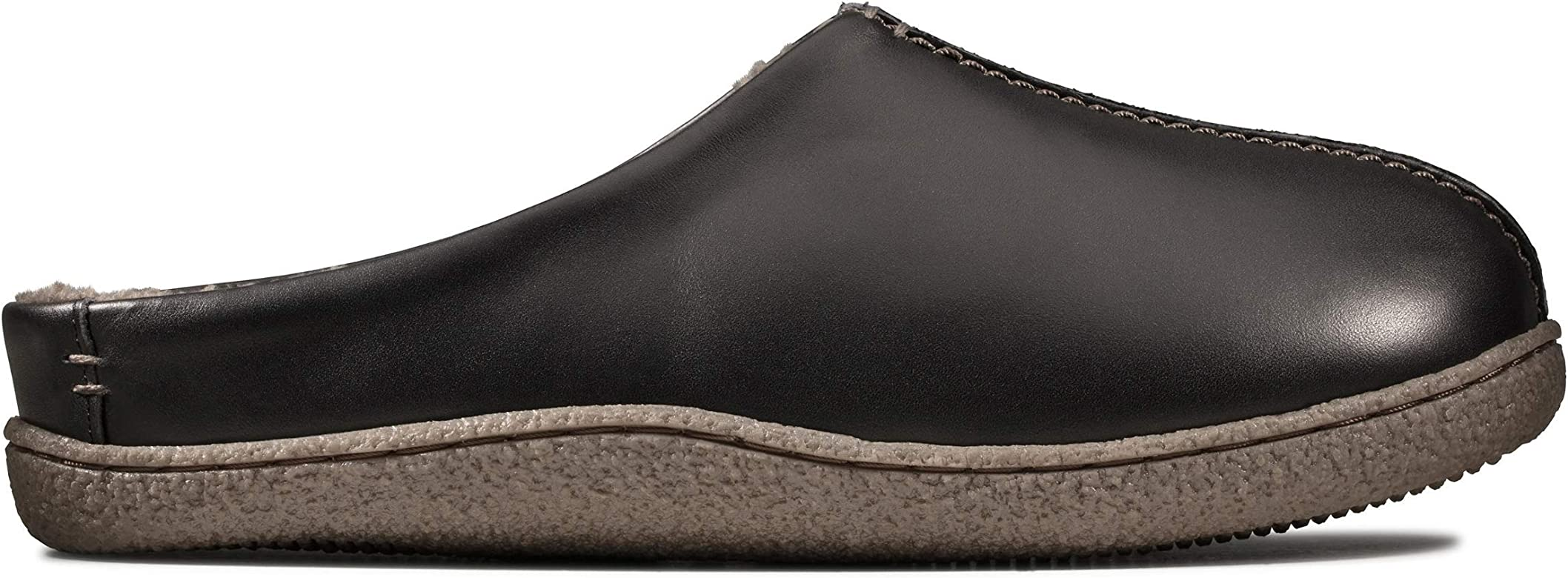 CLARKS Relaxed Style Mens Leather Mule Slipper