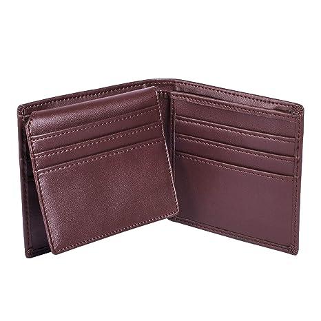 Alcheringa Billetera para Hombre con Protección RFID/con Caja de Regalo (Marrón)