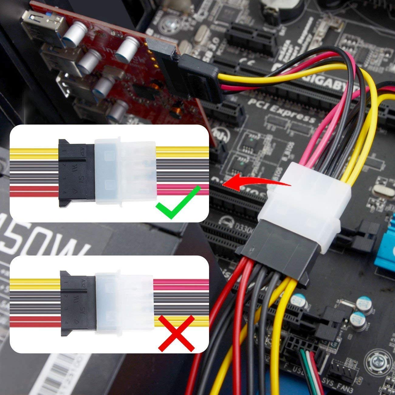 Inateck PCI-E to USB 3.0 (5 Ports) PCI Express Card and 15-Pin Power Connector, Red (KT5001) by Inateck (Image #1)