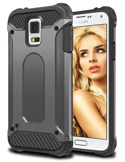 9 opinioni per Cover Samsung Galaxy S5, Coolden® Hybrid Dual Layer Armor Protezione Soft TPU