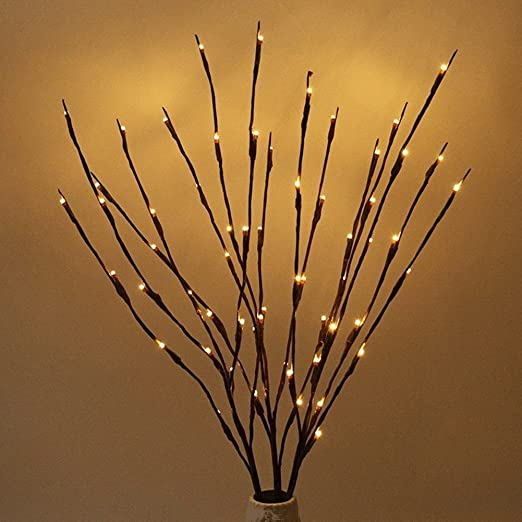 60 Led Lights Artificial Tree Plants Branches Lights Willow Twig