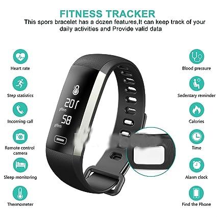 amazon com sports activity sleep tracker heart rate fitness