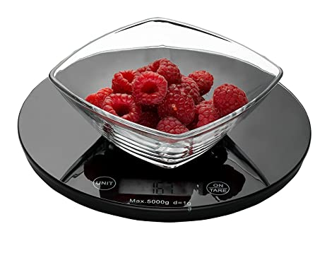 Weigh To Go! Digital Food Scale   Black Digital Kitchen Scale Measures Lb,  Oz