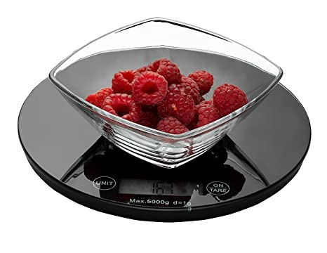 Weigh To Go! Digital Food Scale - Black Digital Kitchen Scale Measures Lb,  Oz, Ml and Gram Scale Features Easy Clean Smooth Glass Top, Touch Button ...