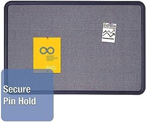 Quartet Contour Fabric Bulletin Board, 4' x 3', Blue Frame, Blue Fabric (7694BE),Small 2' - 4'