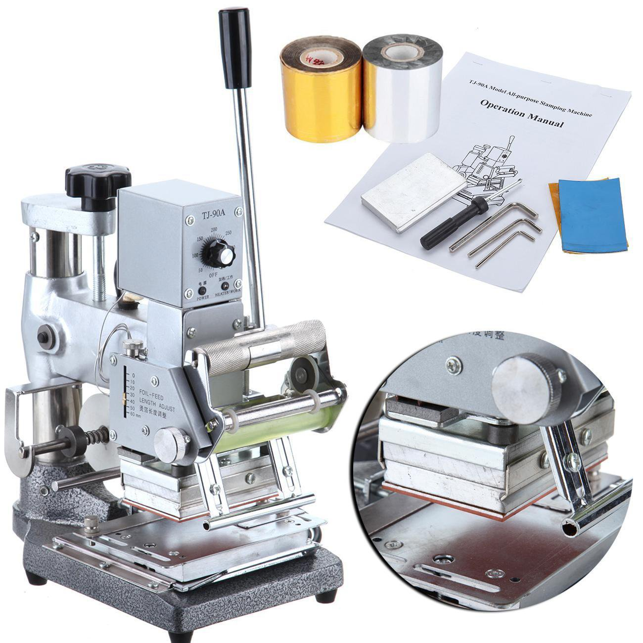 PanelTech Manual Stainless Steel Tipper stamper PVC Card Album Hot Foil Stamping Machine
